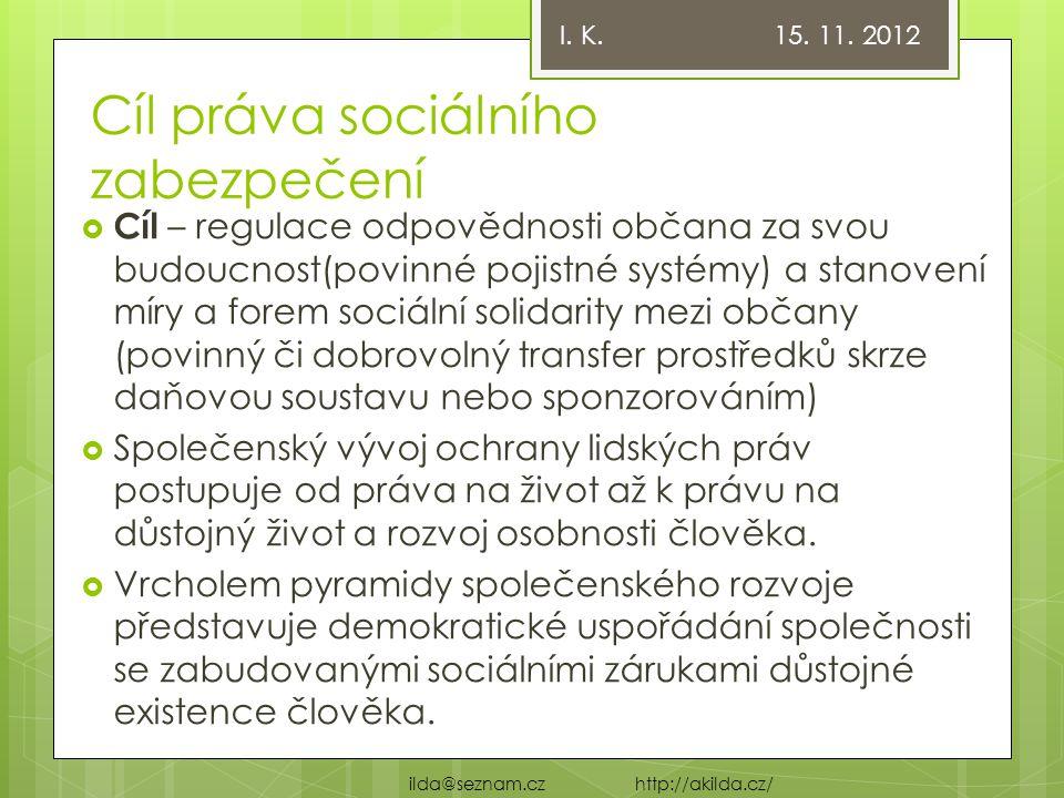 Cíl práva sociálního zabezpečení