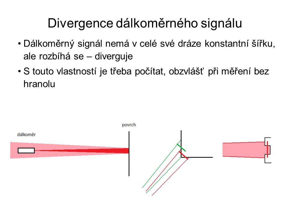 Divergence dálkoměrného signálu