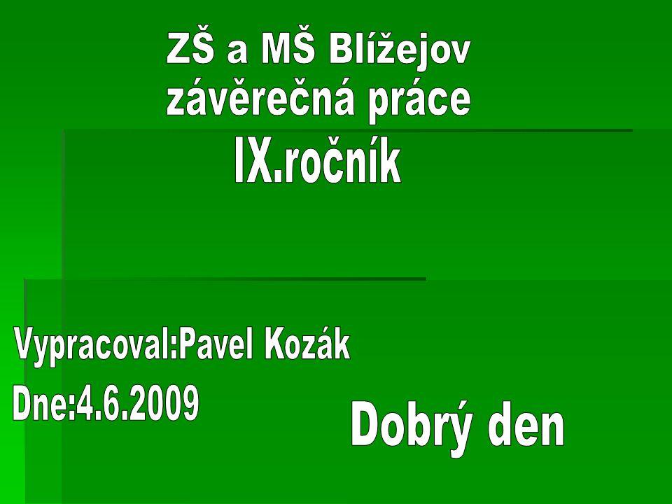 Vypracoval:Pavel Kozák