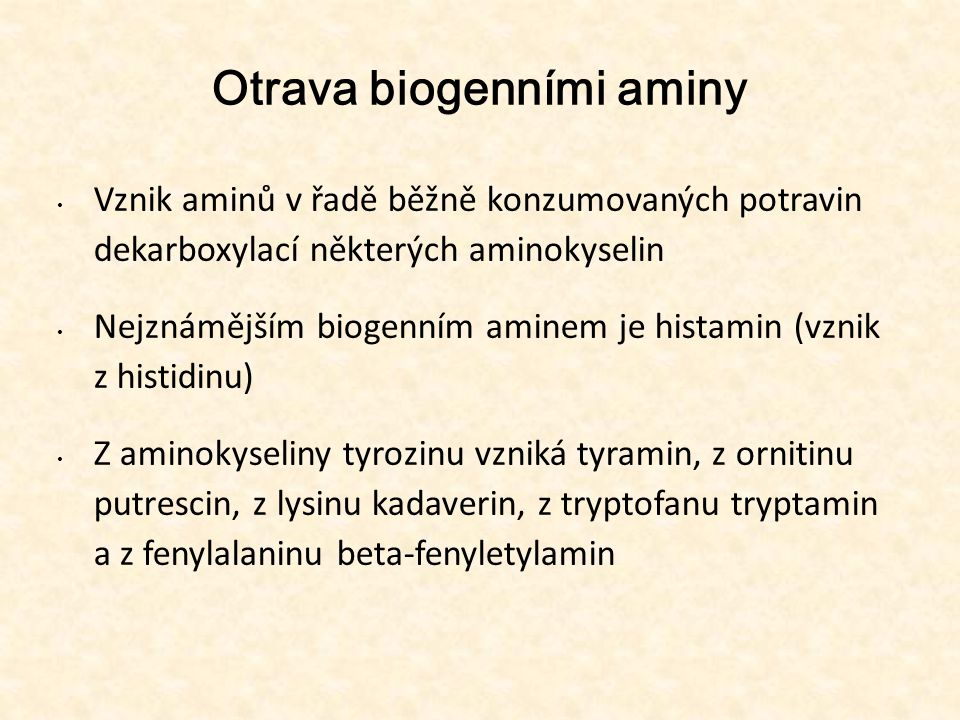 Otrava biogenními aminy