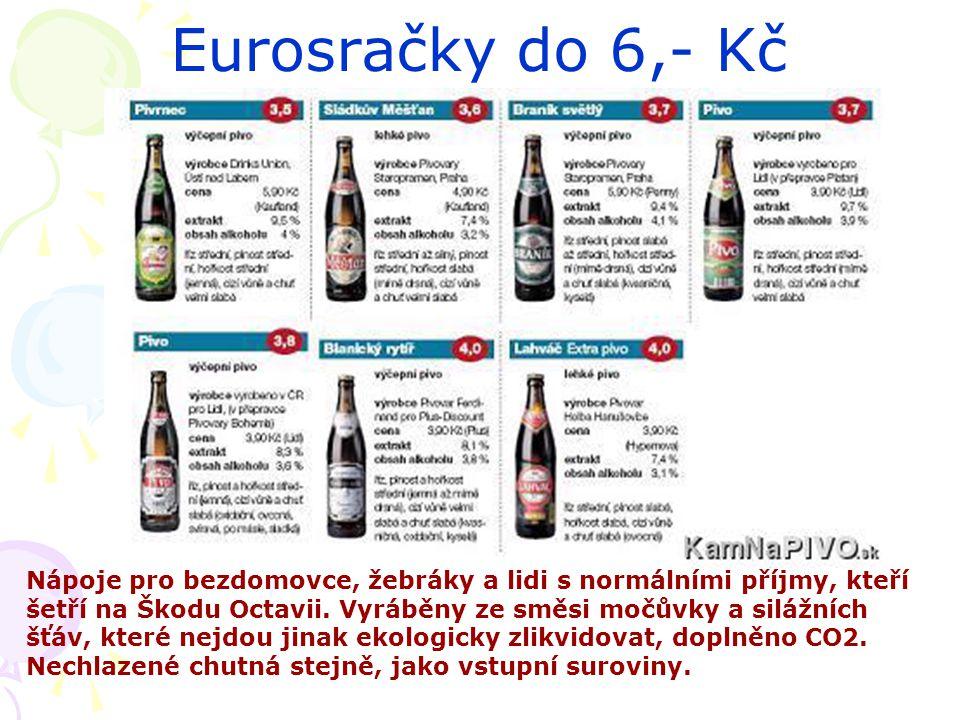 Eurosračky do 6,- Kč