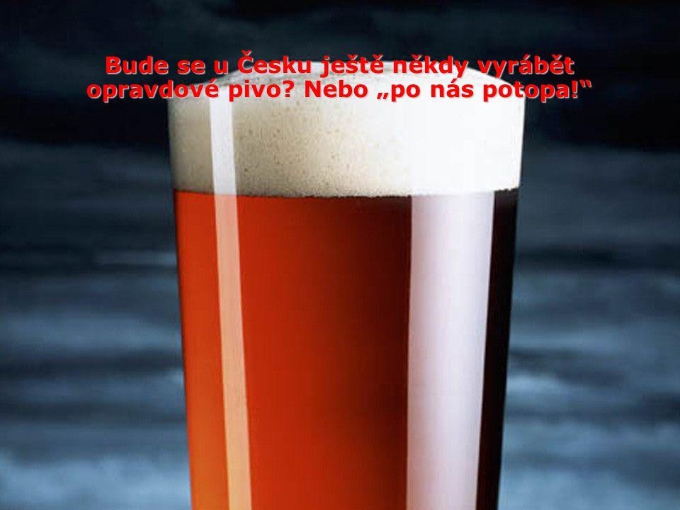 """Bude se u Česku ještě někdy vyrábět opravdové pivo Nebo """"po nás potopa!"""