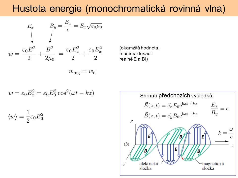 Hustota energie (monochromatická rovinná vlna)