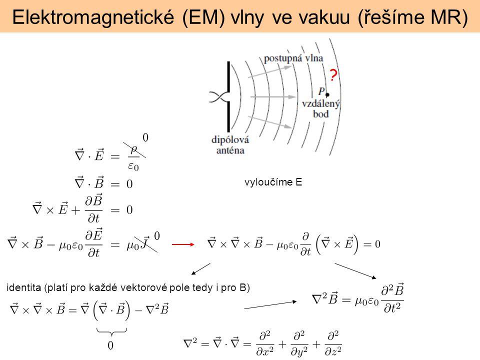 Elektromagnetické (EM) vlny ve vakuu (řešíme MR)