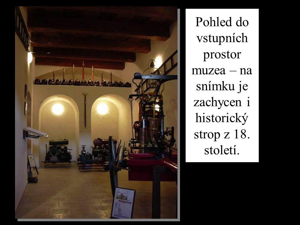 Pohled do vstupních prostor muzea – na snímku je zachycen i historický strop z 18. století.