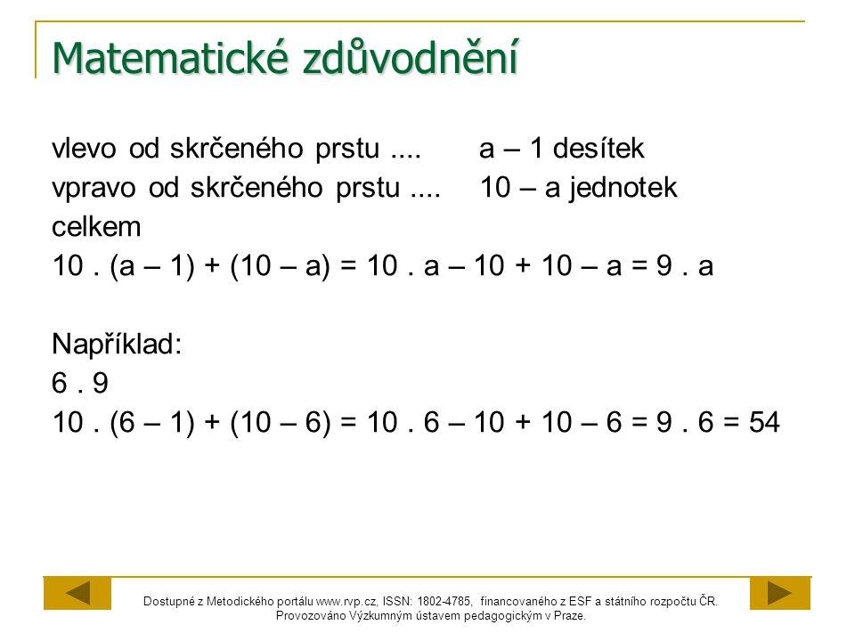 Matematické zdůvodnění