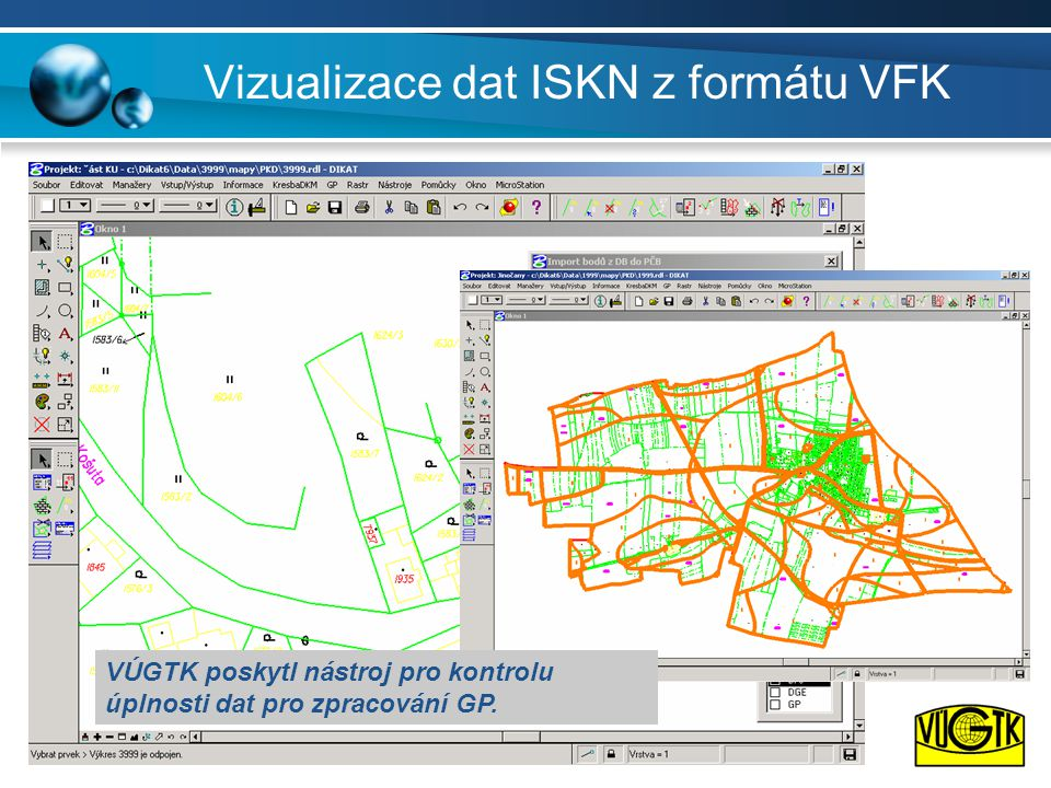 Vizualizace dat ISKN z formátu VFK