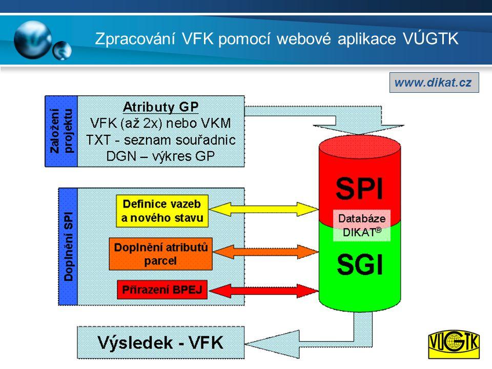 Zpracování VFK pomocí webové aplikace VÚGTK