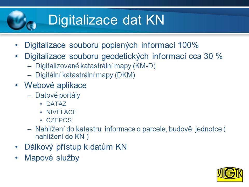 Digitalizace dat KN Digitalizace souboru popisných informací 100%