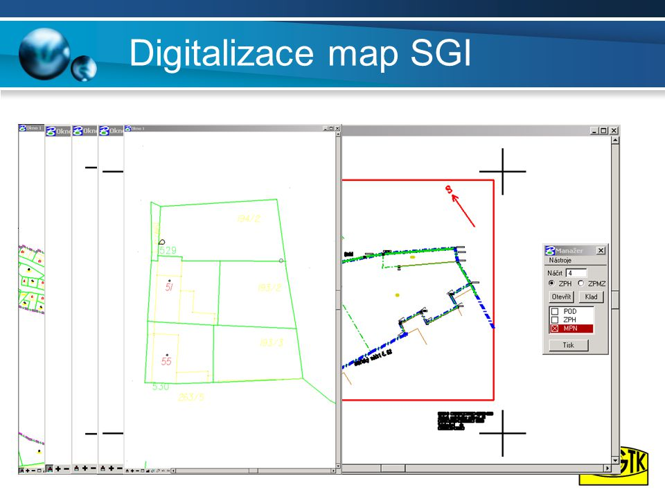 Digitalizace map SGI