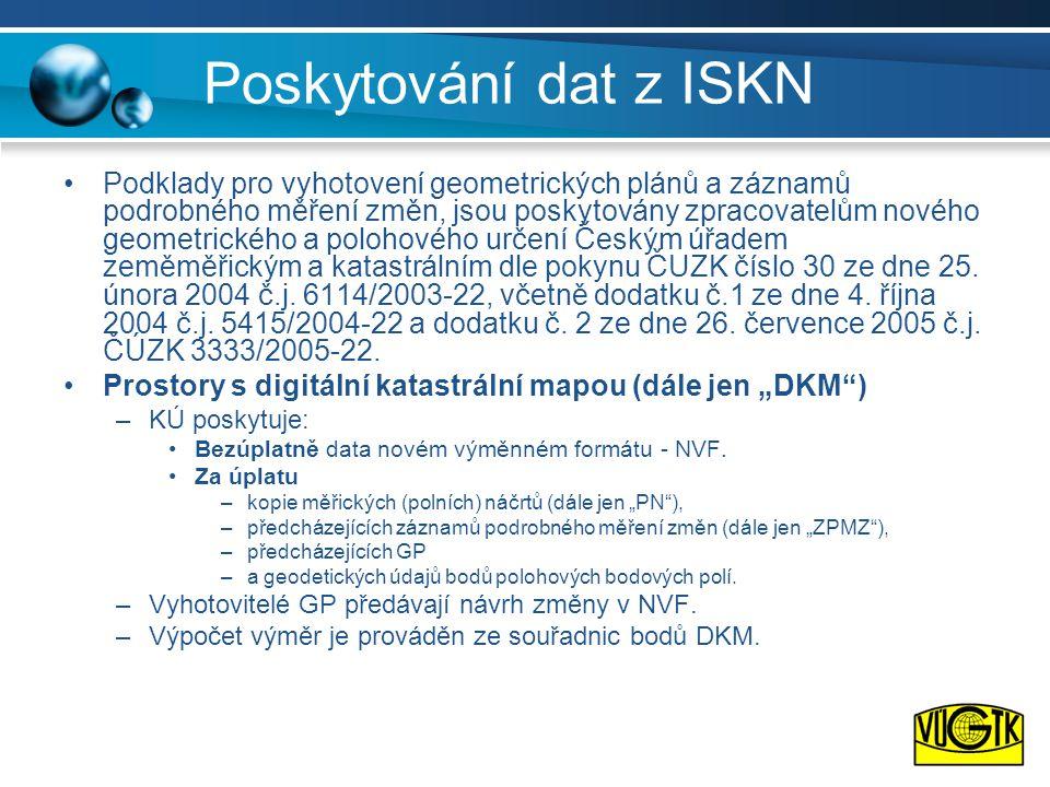Poskytování dat z ISKN
