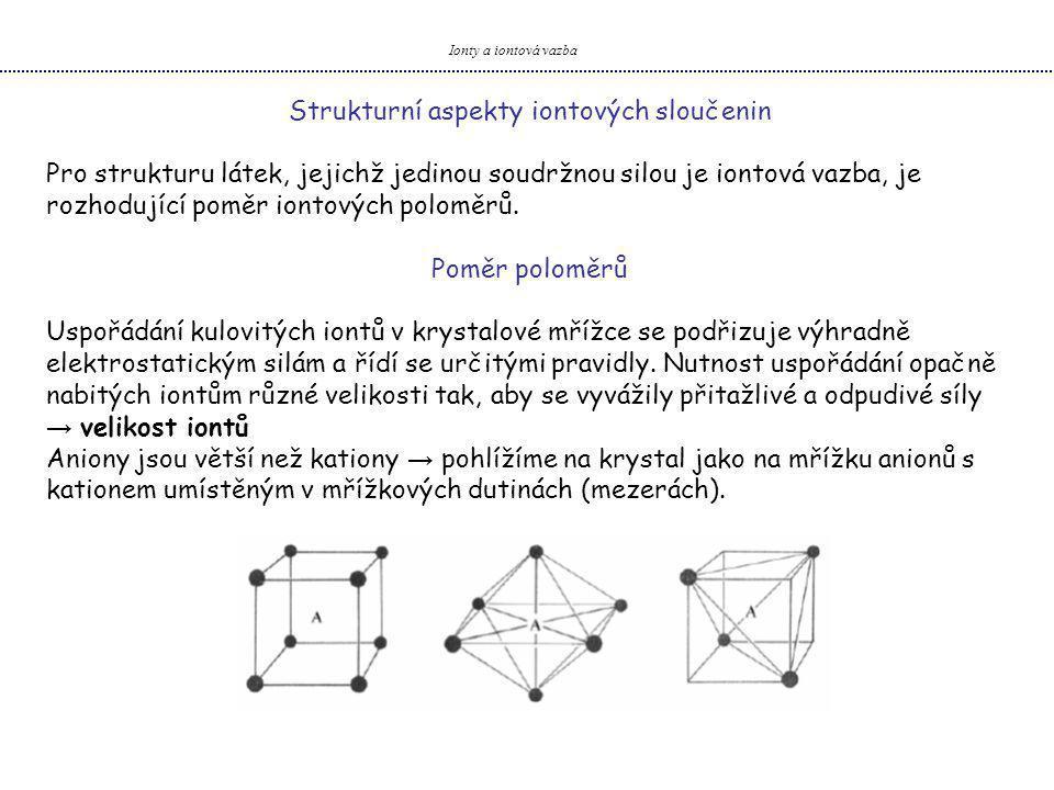 Strukturní aspekty iontových sloučenin