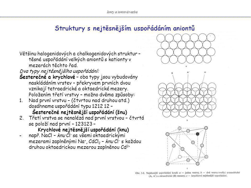 Struktury s nejtěsnějším uspořádáním aniontů