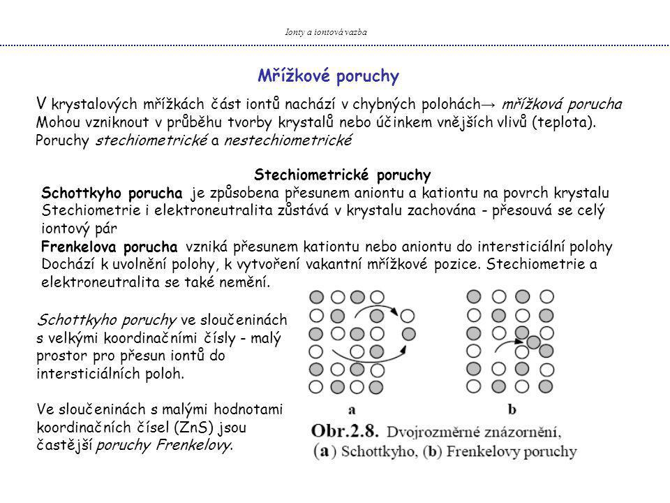 Stechiometrické poruchy