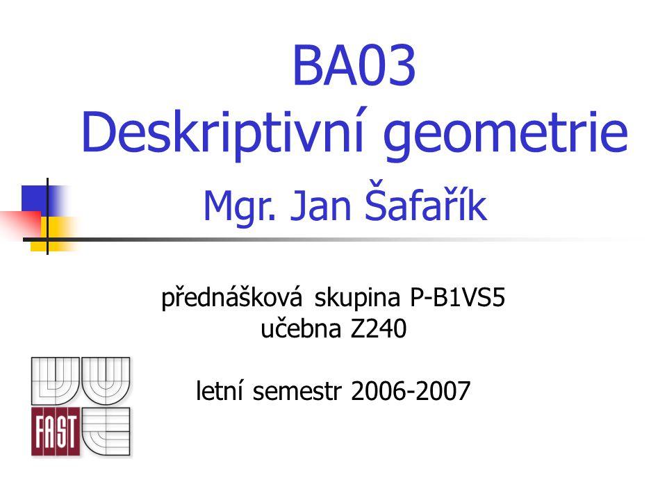 BA03 Deskriptivní geometrie