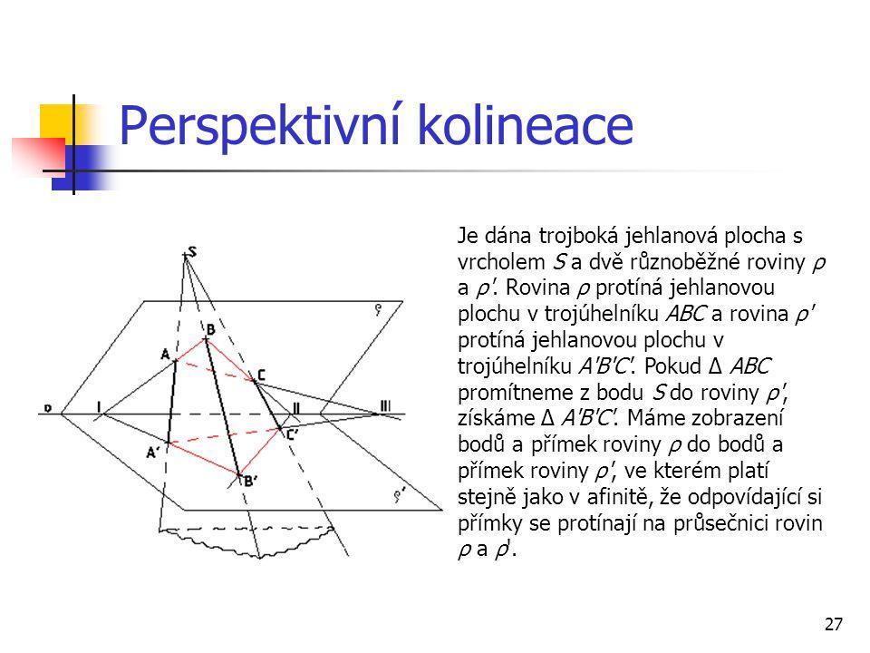 Perspektivní kolineace