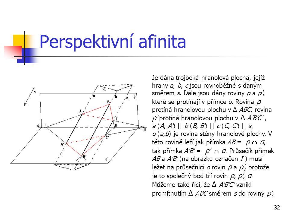 Perspektivní afinita