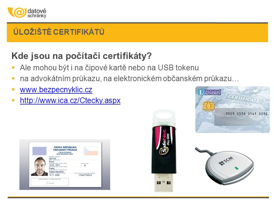Kde jsou na počítači certifikáty