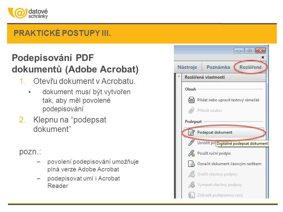 Podepisování PDF dokumentů (Adobe Acrobat)