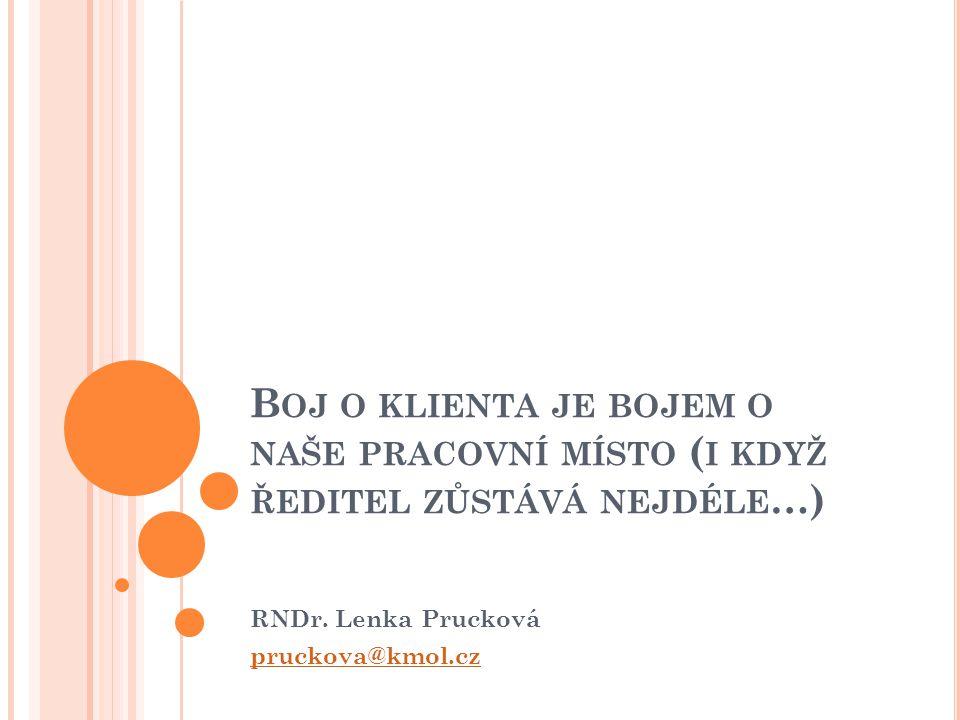 RNDr. Lenka Prucková pruckova@kmol.cz