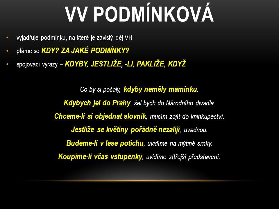 VV PODMÍNKOVÁ Kdybych jel do Prahy, šel bych do Národního divadla.