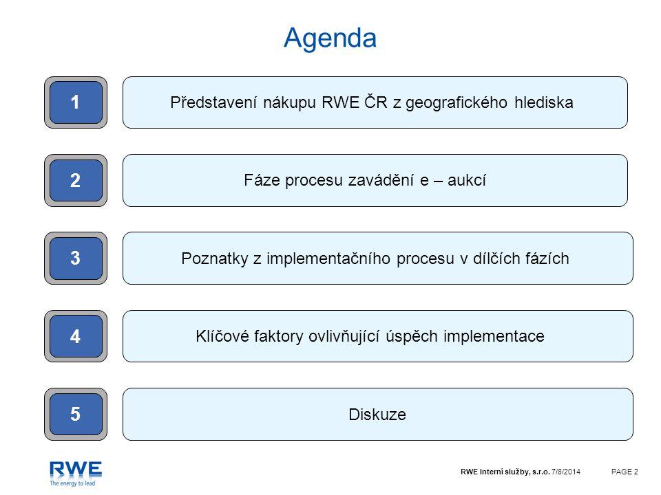 Agenda 1 2 3 4 5 Představení nákupu RWE ČR z geografického hlediska