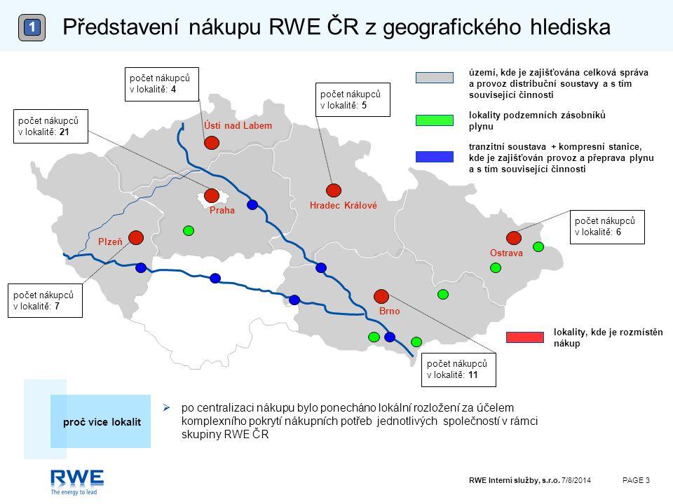 Představení nákupu RWE ČR z geografického hlediska