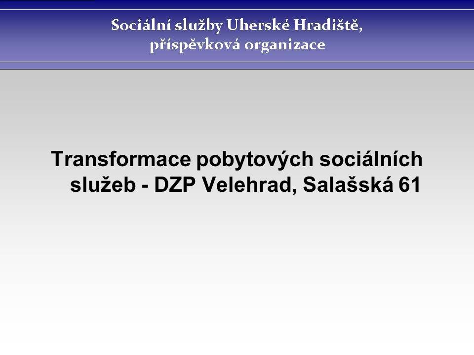 Transformace pobytových sociálních služeb - DZP Velehrad, Salašská 61
