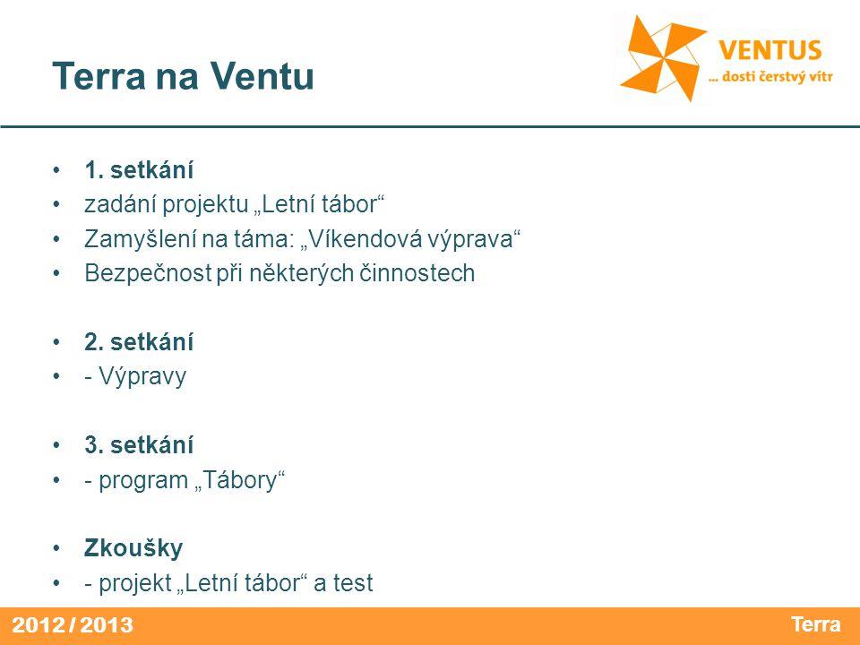 """Terra na Ventu 1. setkání zadání projektu """"Letní tábor"""