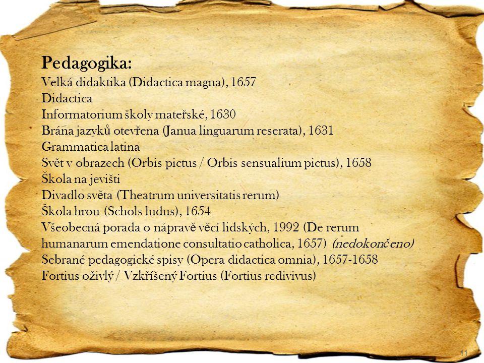 Pedagogika: Velká didaktika (Didactica magna), 1657 Didactica