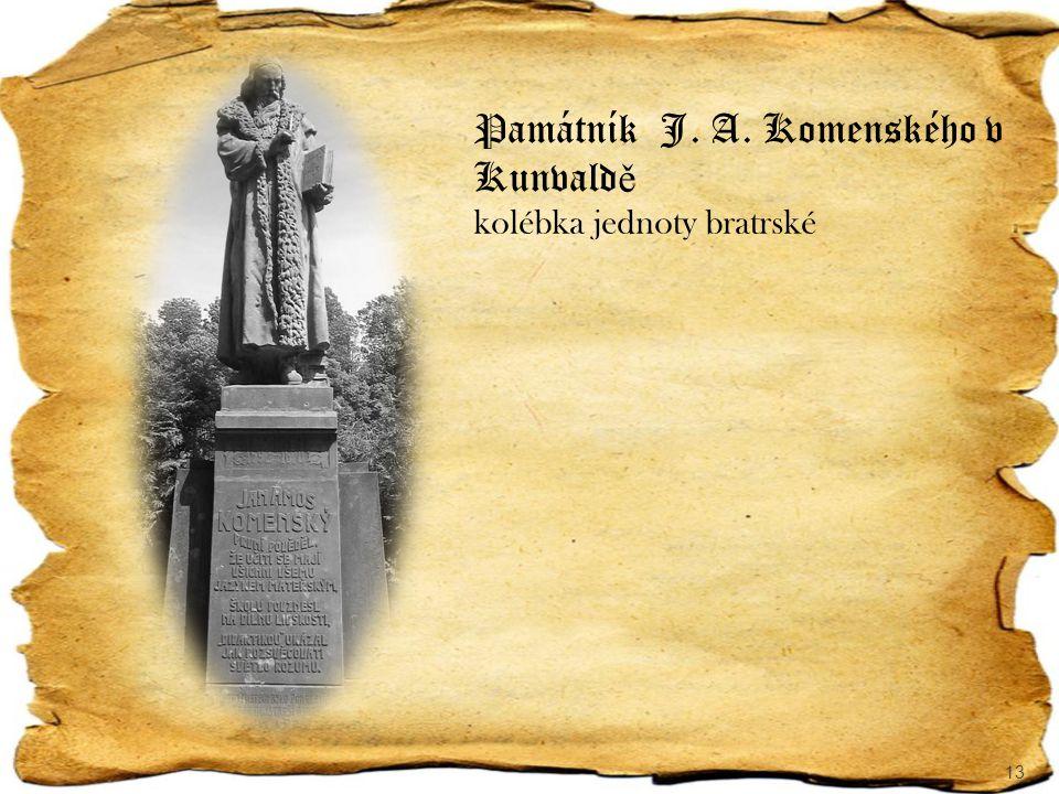 Památník J. A. Komenského v Kunvaldě