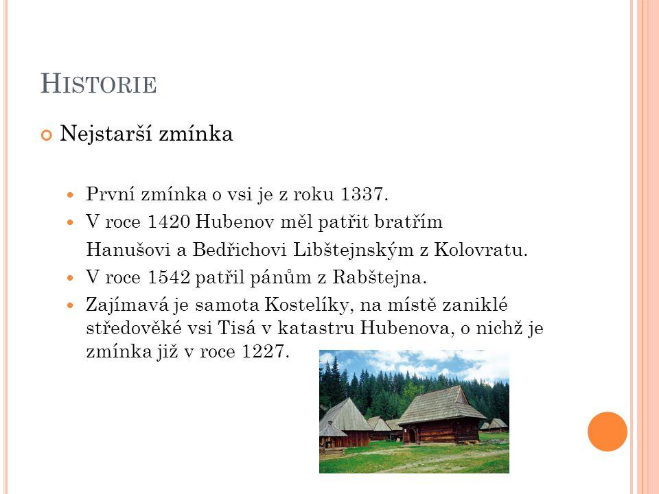 Historie Nejstarší zmínka První zmínka o vsi je z roku 1337.
