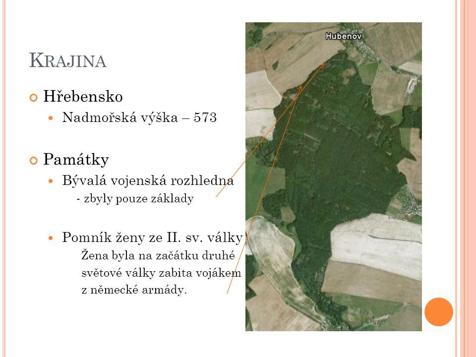 Krajina Hřebensko Památky Nadmořská výška – 573