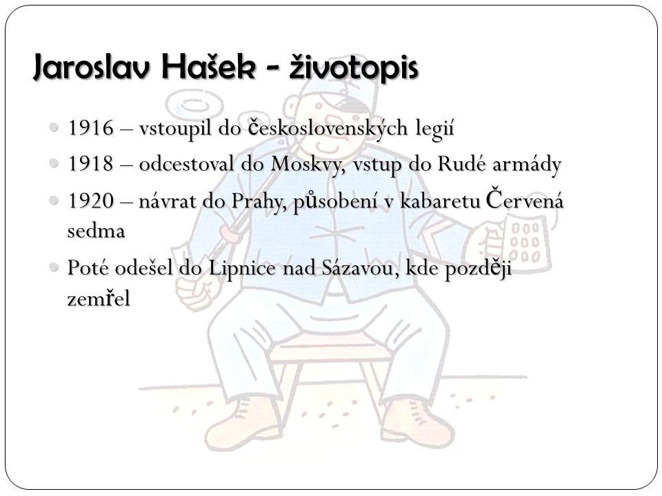 Jaroslav Hašek - životopis