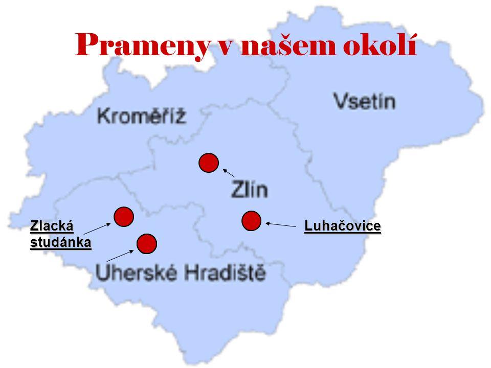 Prameny v našem okolí Zlacká studánka Luhačovice
