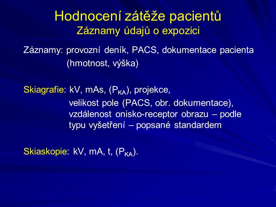 Hodnocení zátěže pacientů