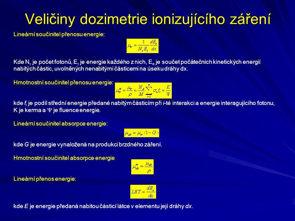 Veličiny dozimetrie ionizujícího záření