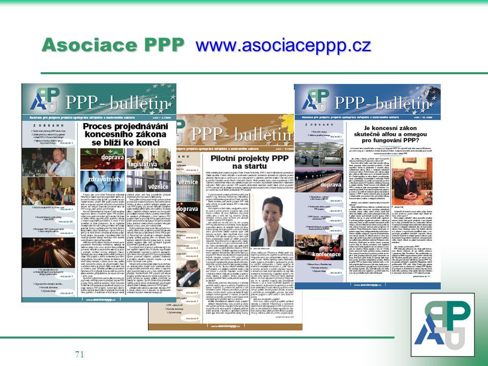 Asociace PPP www.asociaceppp.cz