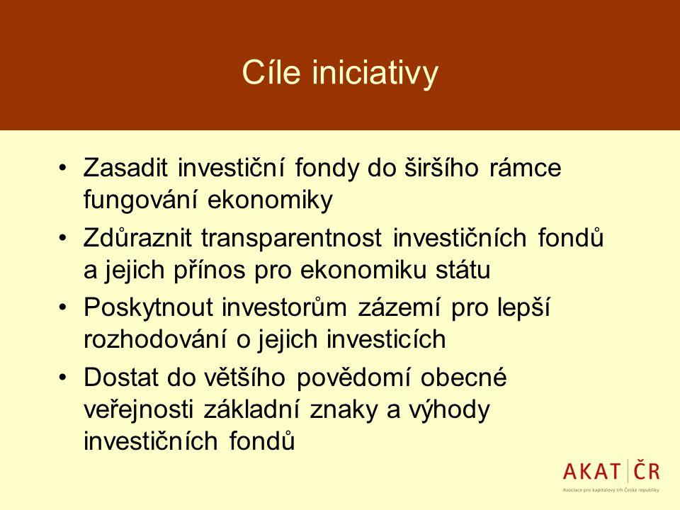 Cíle iniciativy Zasadit investiční fondy do širšího rámce fungování ekonomiky.
