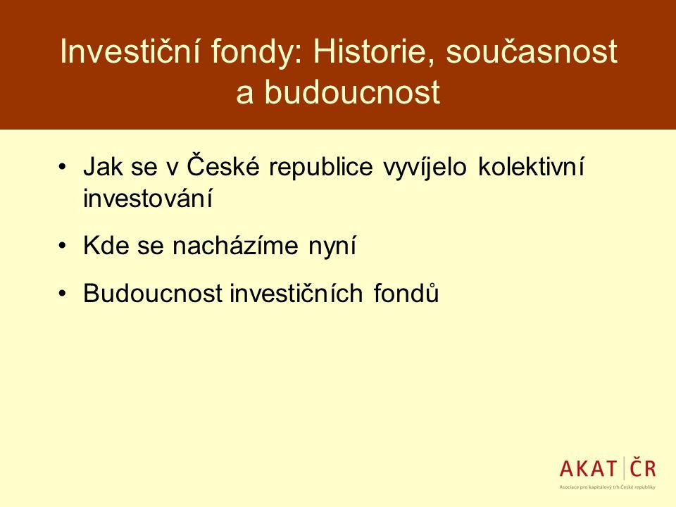 Investiční fondy: Historie, současnost a budoucnost