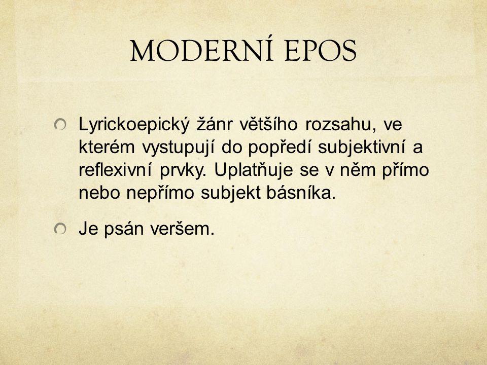 MODERNÍ EPOS