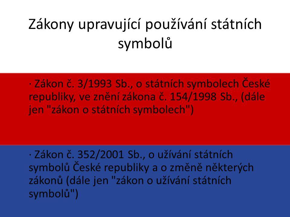 Zákony upravující používání státních symbolů