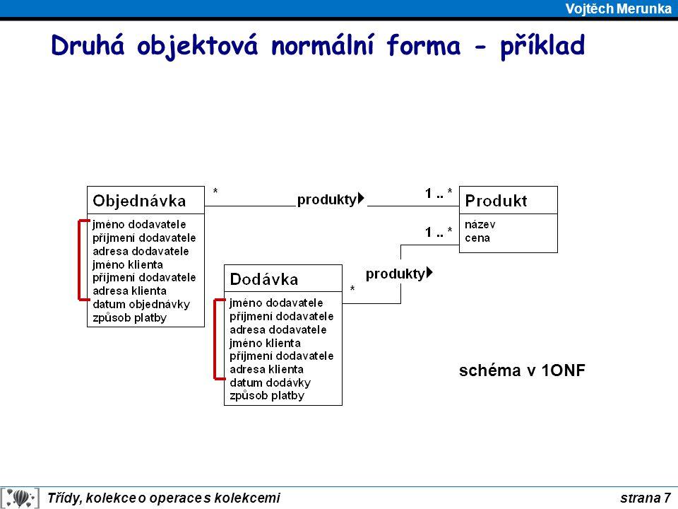 Druhá objektová normální forma - příklad