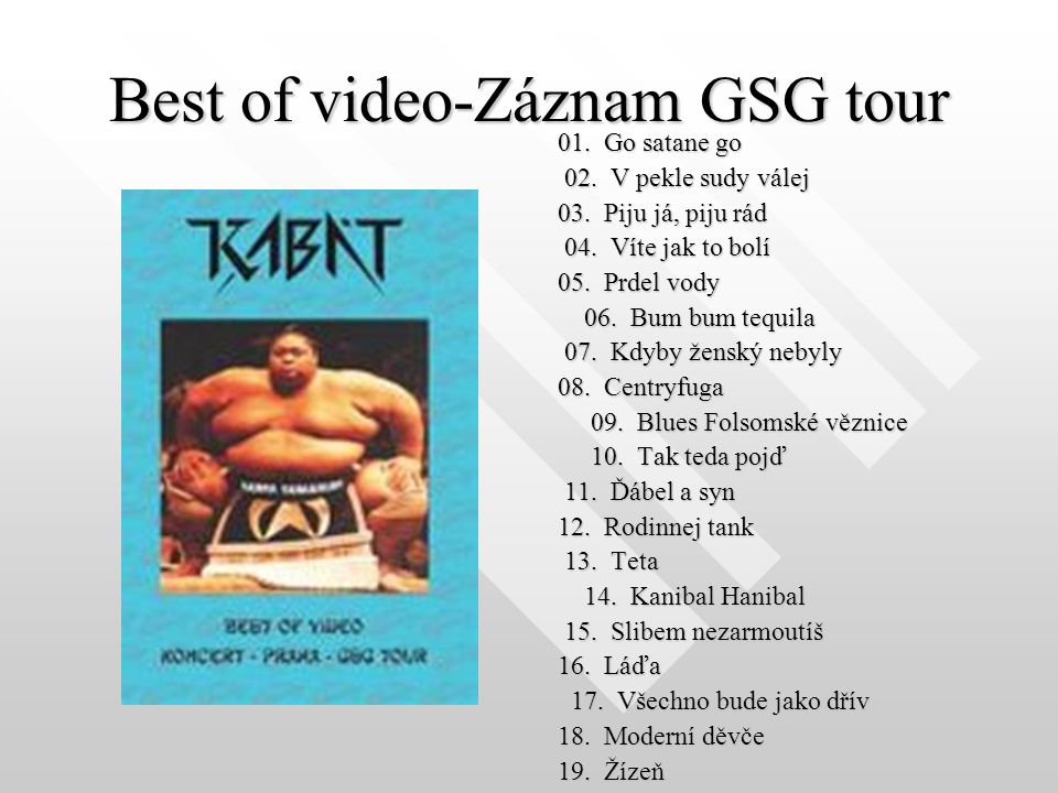 Best of video-Záznam GSG tour