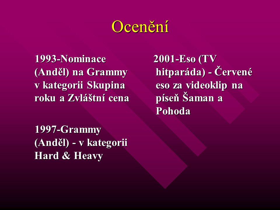 Ocenění 1993-Nominace (Anděl) na Grammy v kategorii Skupina roku a Zvláštní cena. 1997-Grammy (Anděl) - v kategorii Hard & Heavy.