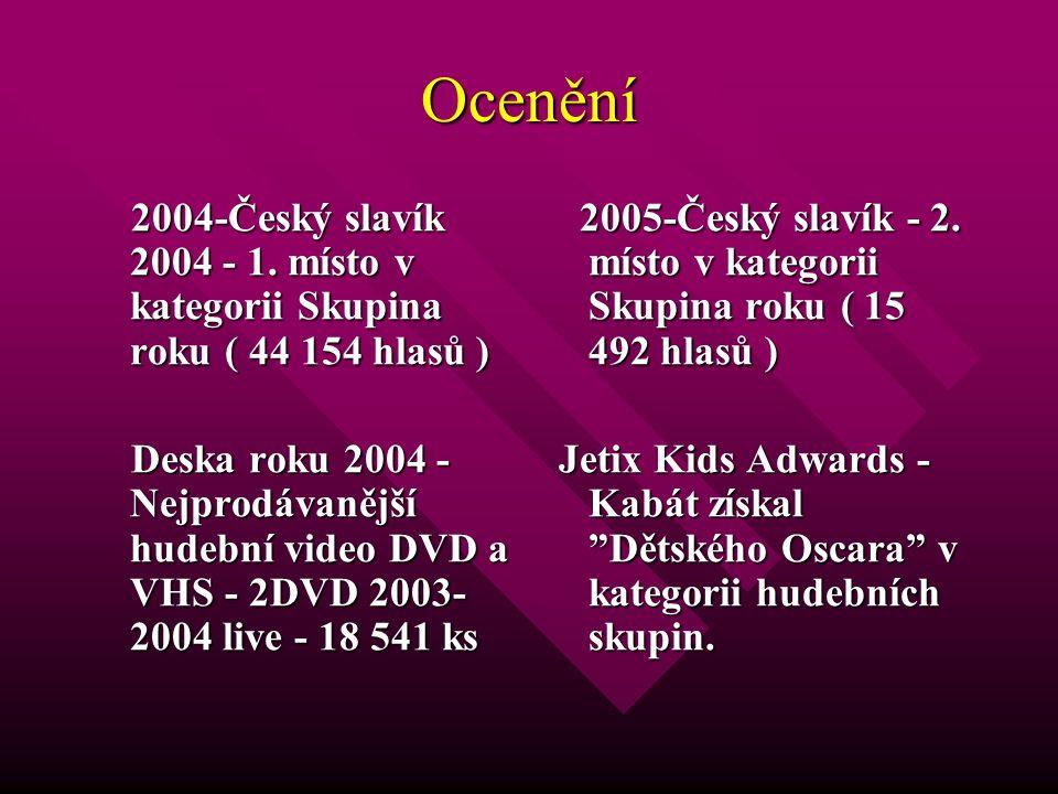 Ocenění 2004-Český slavík 2004 - 1. místo v kategorii Skupina roku ( 44 154 hlasů )