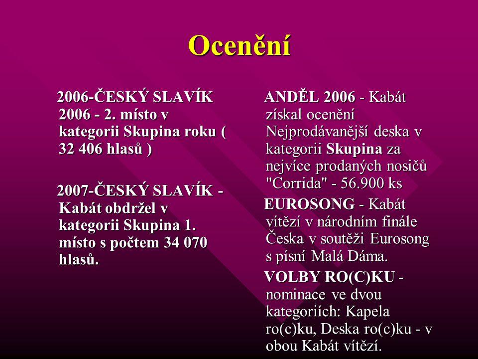 Ocenění 2006-ČESKÝ SLAVÍK 2006 - 2. místo v kategorii Skupina roku ( 32 406 hlasů )