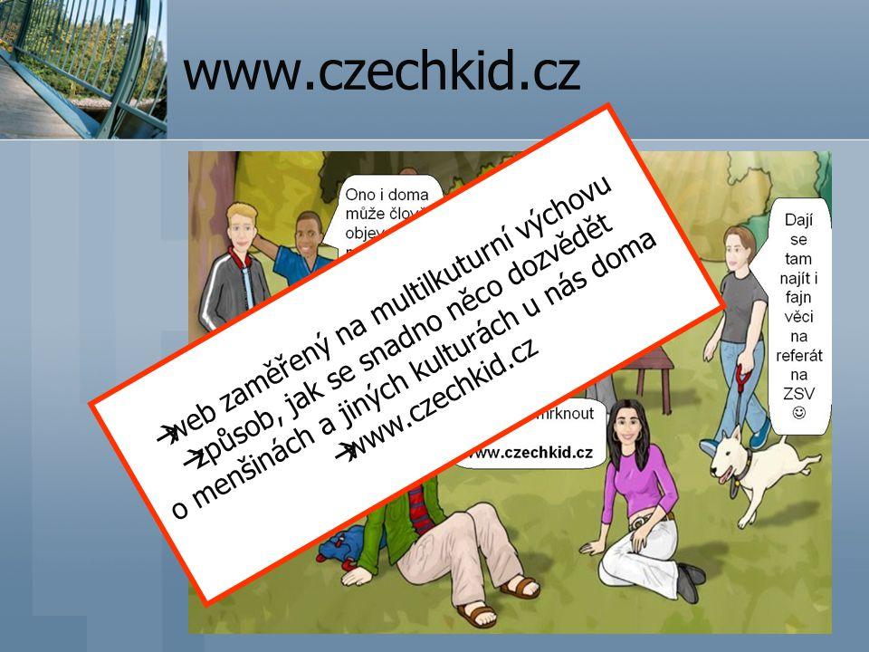 www.czechkid.cz web zaměřený na multilkuturní výchovu