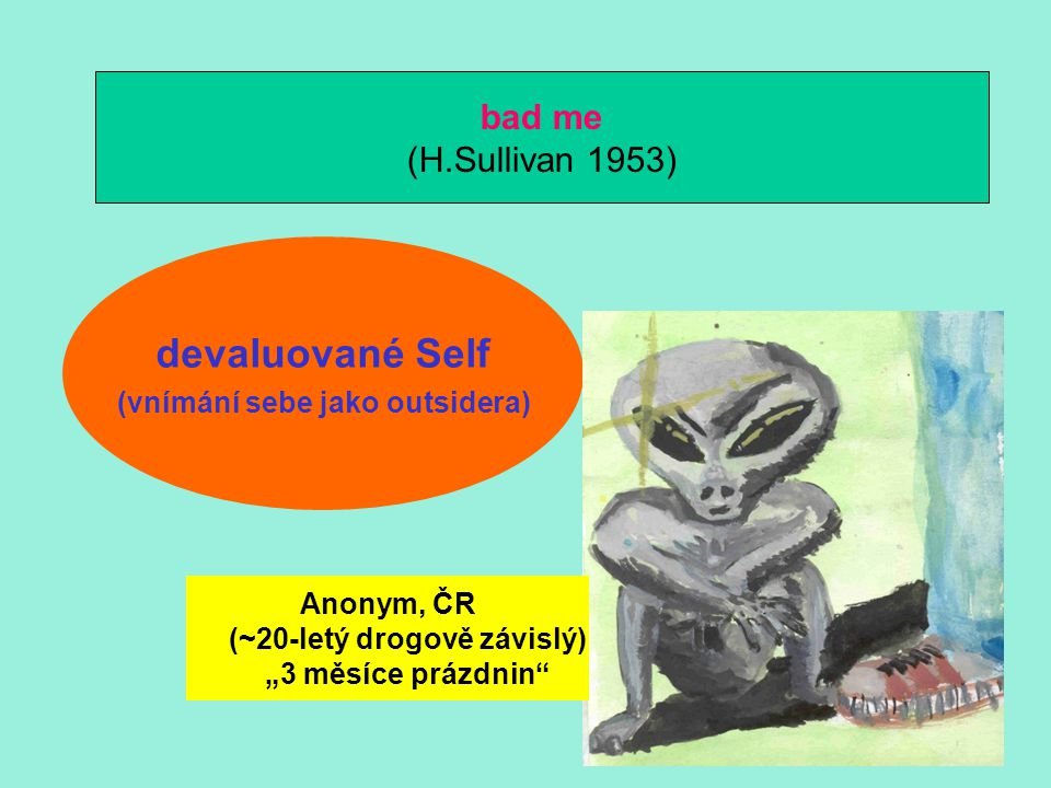 devaluované Self bad me (H.Sullivan 1953)