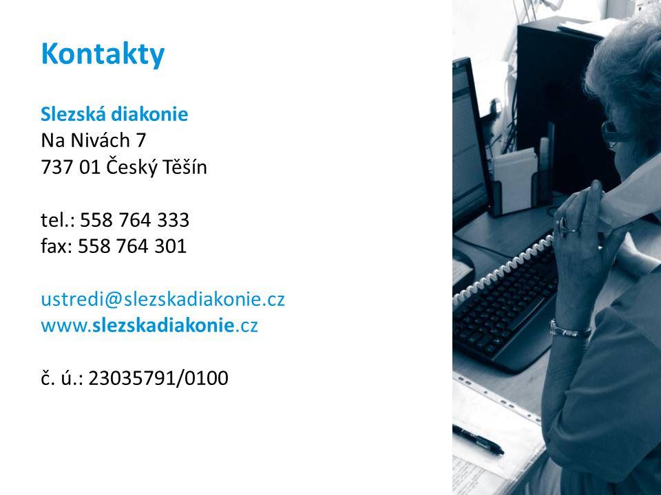 Kontakty Slezská diakonie Na Nivách 7 737 01 Český Těšín